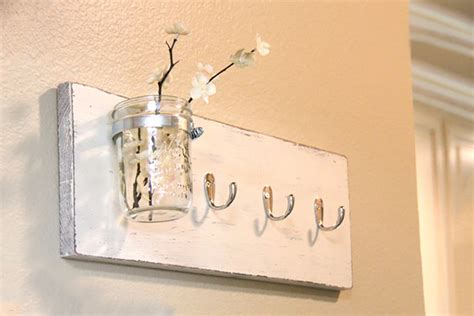Diy Mason Jar Key Hook