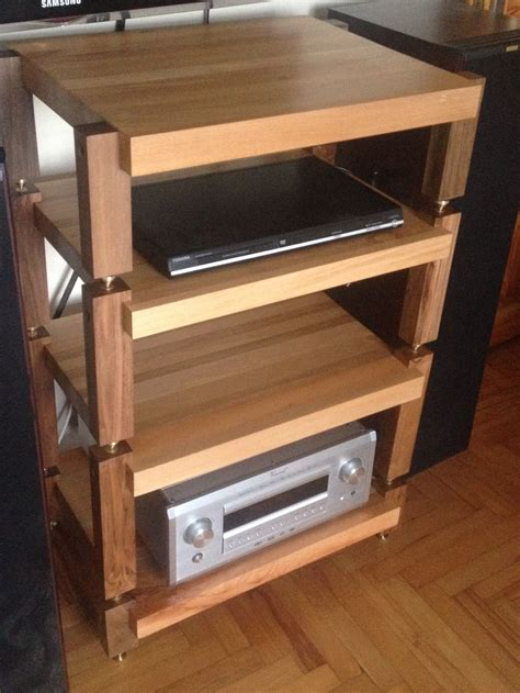 Diy Massive Wood Audio Rack