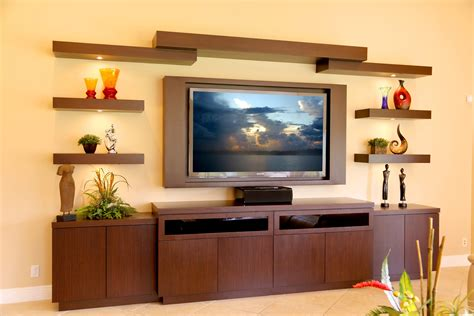 Diy Media Center Using Bookshelves