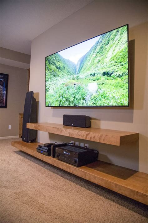 Diy Media Center With Shelves