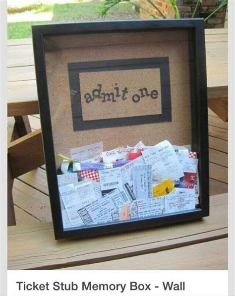 Diy Memory Box For Tickets