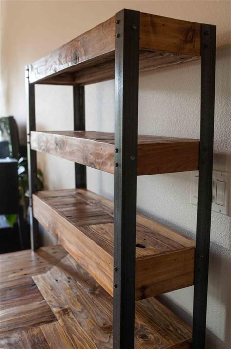 Diy Metal And Wood Bookcases