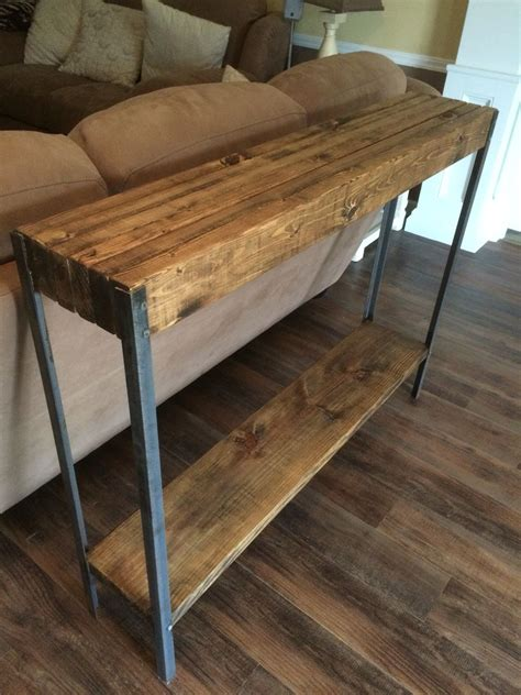 Diy Metal And Wood Sofa Table