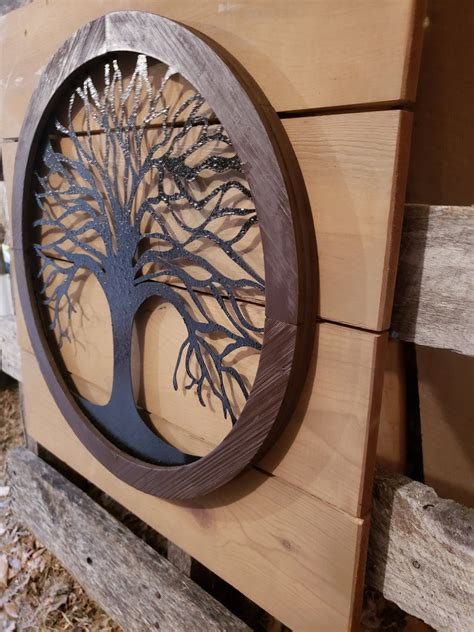 Diy Metal And Wood Wall Art