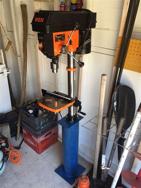 Diy Metal Drill Press Stand