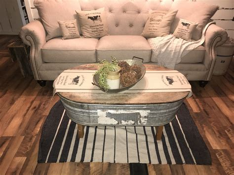 Diy Metal Tub Coffee Table