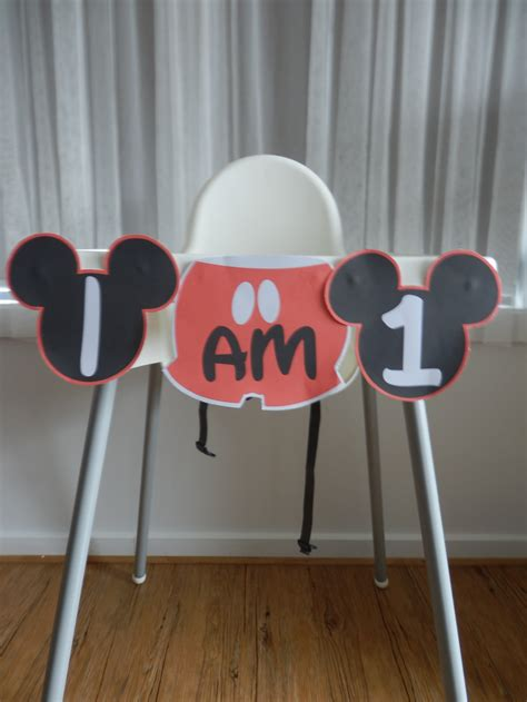 Diy Mickey Mouse High Chair Banner