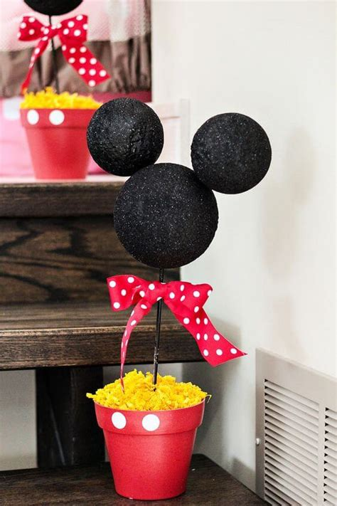 Diy Mickey Mouse Spring Table Centerpieces