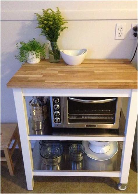Diy Microwave Stand With Storage