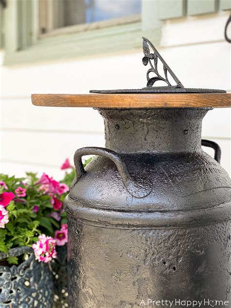 Diy Milk Can Table For Sale
