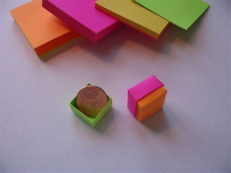 Diy Mini Boxes Made Of Sticky Notes
