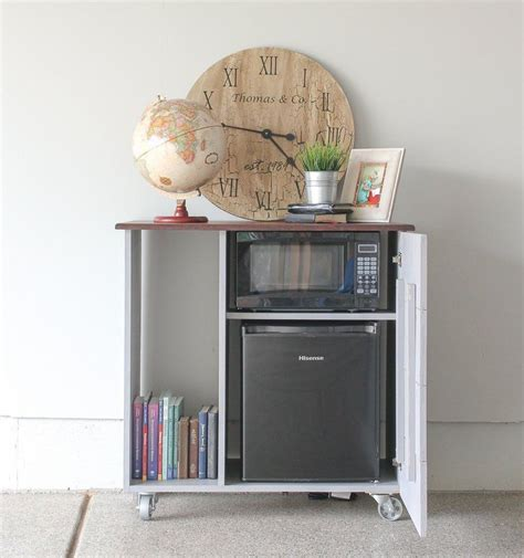 Diy Mini Fridge And Microwave Cabinet