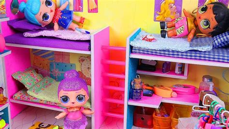 Diy Miniature Dollhouse Bunk Bed Bedroom