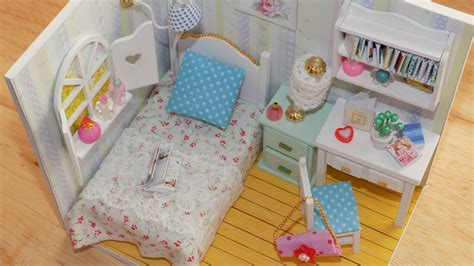 Diy Miniature Dollhouse Bunk Bed Bedrooms