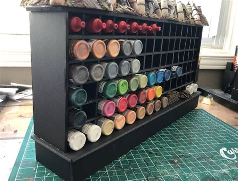 Diy Miniature Paint Rack
