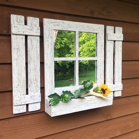 Diy Mirror Window With Shutters