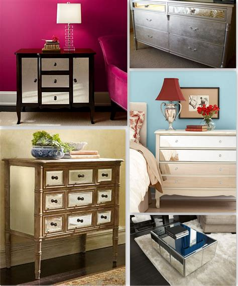 Diy Mirrored Furniture Pinterest