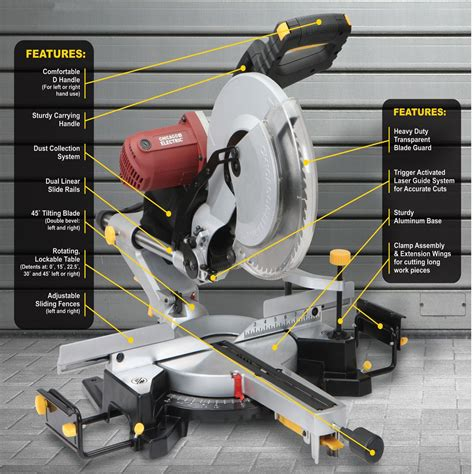Diy Miter Saw Bench For A Harbor Freight 61970 With Saw Dust Removal