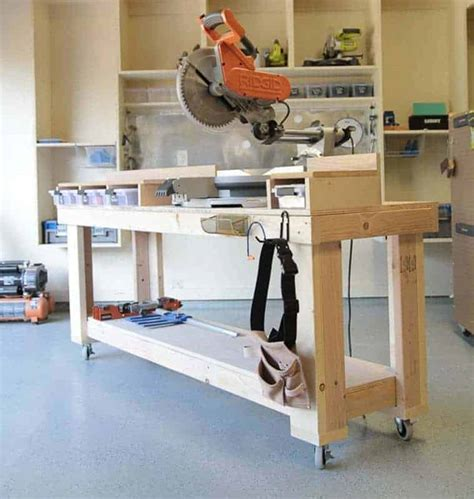 Diy Miter Saw Bench Home Depot