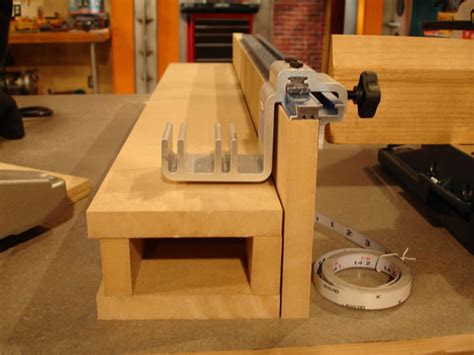 Diy Miter Saw Table With Fence Stop