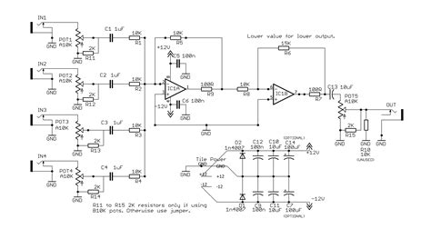 Diy Mixer Schematic