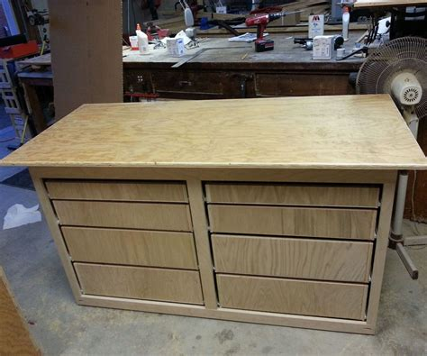 Diy Mobile Workbench On Wheels With Drawers