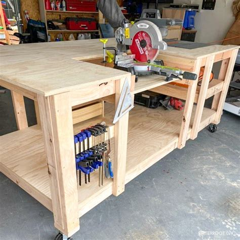Diy Mobile Workbench With Table Saw