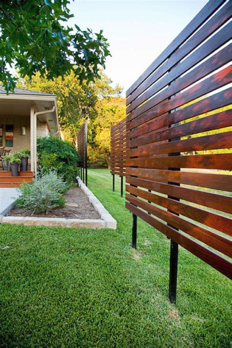 Diy Modern Privacy Fence