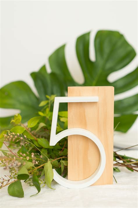 Diy Modern Table Numbers
