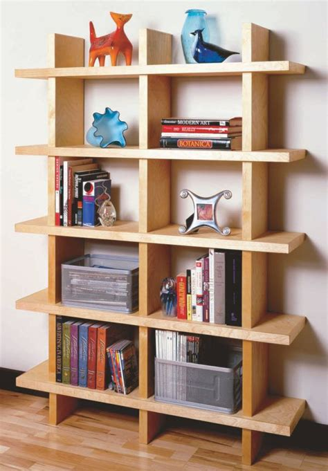 Diy Modern Wood Bookcase