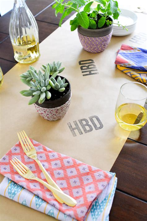 Diy Monogram Table Runner