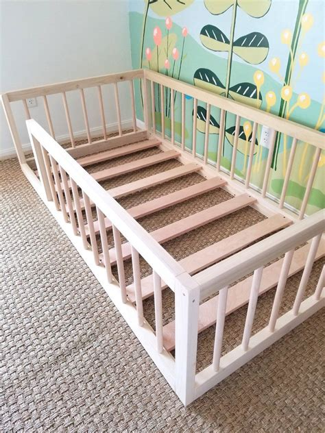 Diy Montessori Bed With Rails