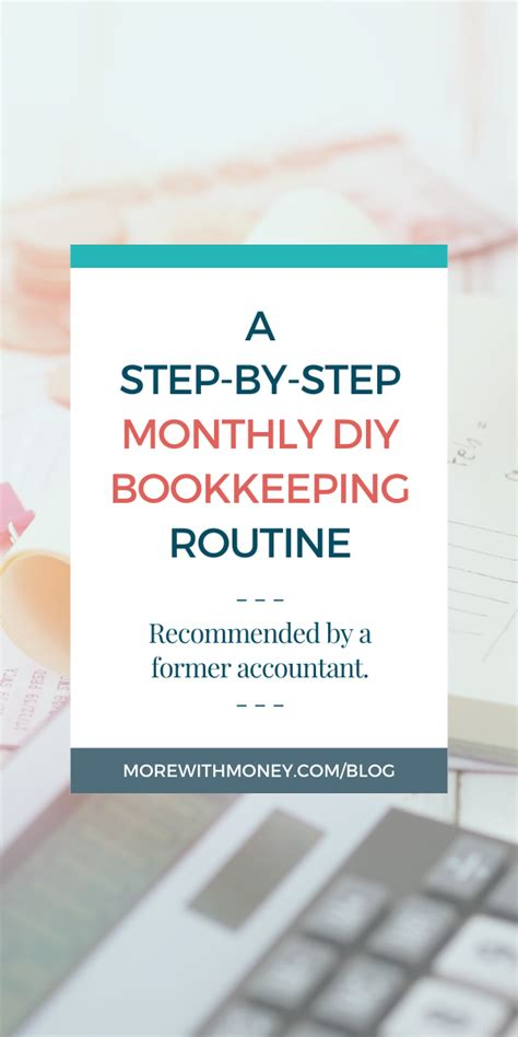 Diy Monthly Bookkeeping