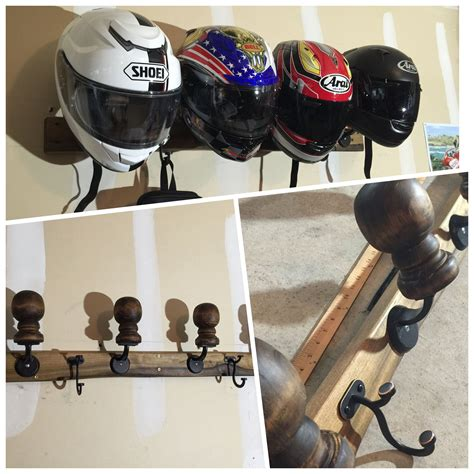 Diy Motorcycle Helmet Rack For Sale