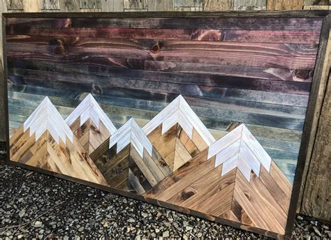 Diy Mountain Wood Wall Art