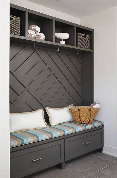 Diy Mudroom Bench With Side Cabinet