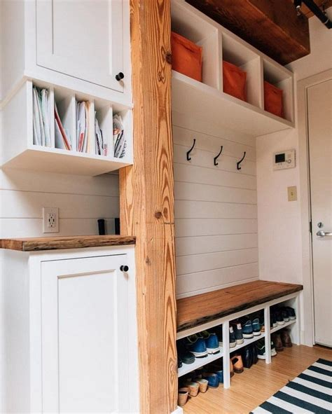 Diy Mudroom Storage From Bookcase