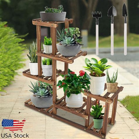 Diy Multi Plant Stand Wood 50s Office