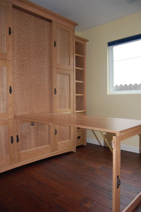Diy Murphy Bed With Fold Down Table