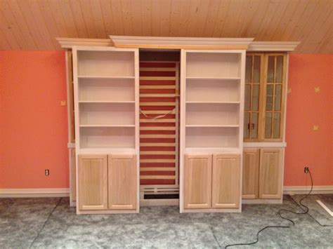 Diy Murphy Bed With Sliding Shelves