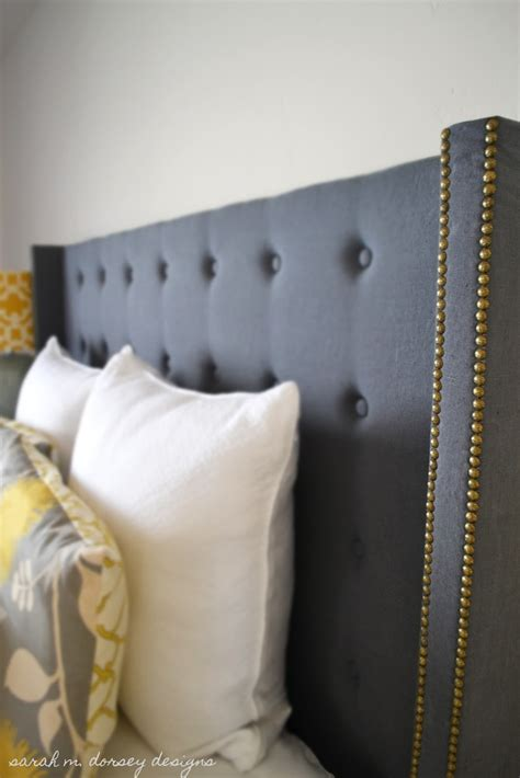 Diy Nailhead Trim Headboard Gray