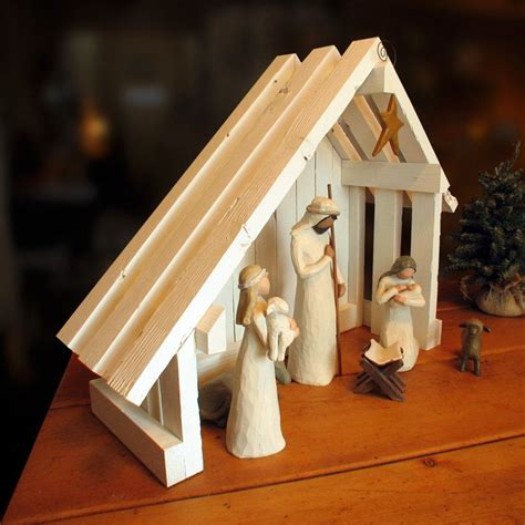 Diy Nativity Stable Palm Roof