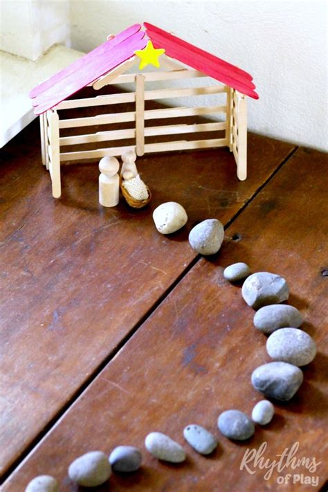 Diy Nativity Stable Using Popsicle Sticks