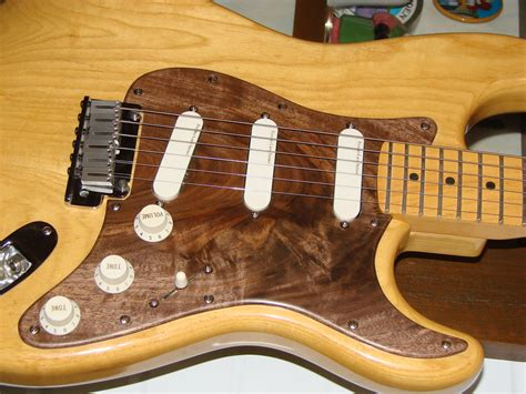 Diy Natural Wood Finish Stratocaster Pickguards