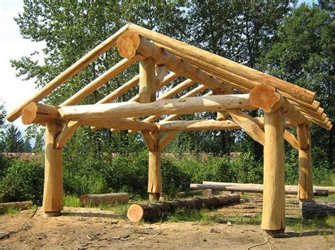 Diy Natural Wood Log Framed Canopies By Fred