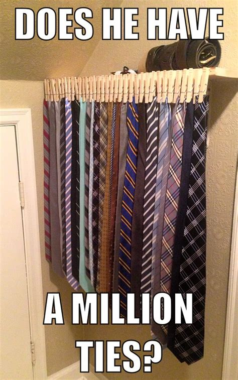 Diy Necktie Storage