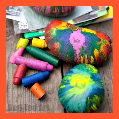 Diy Network Rock Painting With Crayons