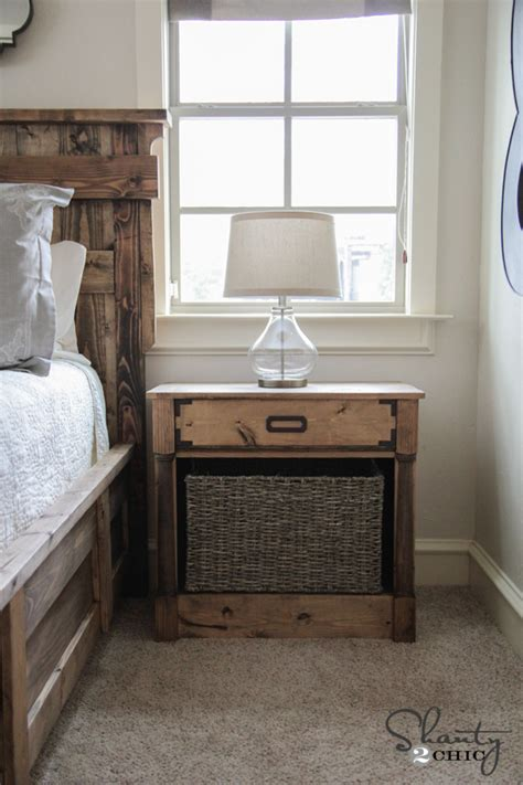 Diy Nightstand Plans Shanty 2 Chic