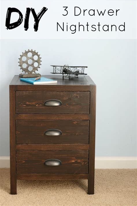 Diy Nightstand With Drawers