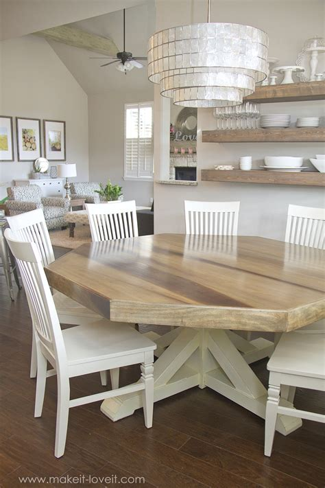 Diy Octagon Farmhouse Table